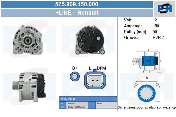 Lichtmaschine 575.909.150.000 OPEL RENAULT